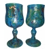 Tall Turquoise Wine Glass Set