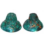 Green Glass short candleholdersGreen Glass short candleholdersGreen Glass short