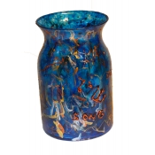 Hand Painted Large Blue Shir Vase