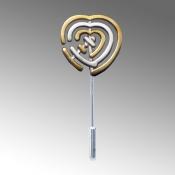 "Hebrew Word ""Ahava"" or ""Love""  written as a heart."