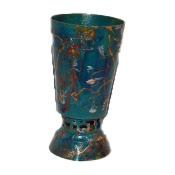 Handpainted Israeli Kiddush Cup