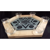 Hexagon Seder plate  in wood frame