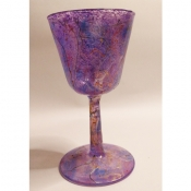 Purple Wine Goblet -with text