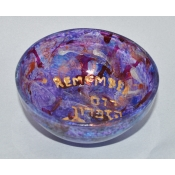 Yahrzeit  Candle Holder-Purple