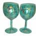 Medium Green Wine Glass Set