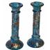 "8"" Round Blue Column Candles"