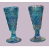 Turquoise Pressed Goblets