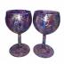 Purple Wine Glass Set