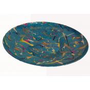 Upcycled 50's Turquoise  Aluminium Platter