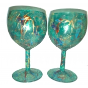 Medium Green Wine Glass Set