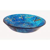 """Upcycled 8"""" Blue Bowl"""