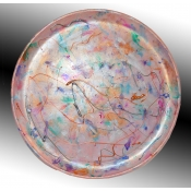 """Pink 12"""" Round serving Plate"""