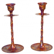 Metal Flower Candlesticks