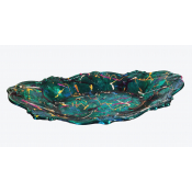 Scalloped Green Serving Bowl
