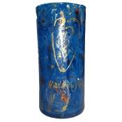 Blue Halleluyah Round Vase